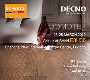 DOMOTEX Asia 2019 --DECNO инновационные продукты